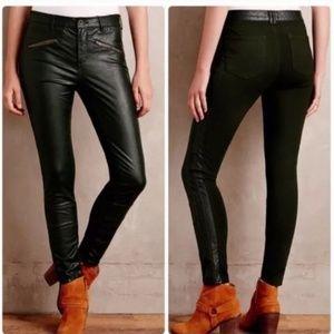 Pilcro & the Letterpress Black Leather Moto Pants